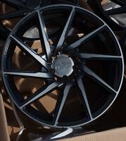 18x8.5 +38 F1R F29 5X100 BLACK  WHEELS FITS FR-S GT86 BRZ COROLLA NEON