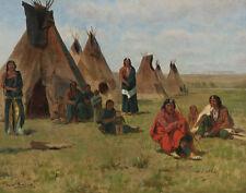 Bonheur Rosa Indian Encampment Print 11 x 14   #3568
