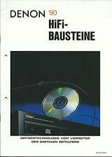 Denon catalogue prospectus 1990/dcd3560 poa6600a dap5500 poa2400 pra1500 pma1520