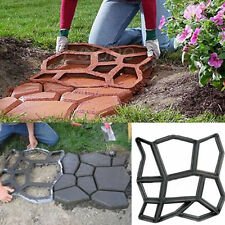 DIY Stepping Stone Block Pavement Raw Building Cement Paver Path Maker Mold