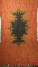 Antique Paisley Table Cloth Woven Wool Large 115 X 58