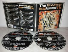 2 CD THE GREATEST LIVE ROCK PERFORMANCES - QUEEN - KANSAS - GENESIS
