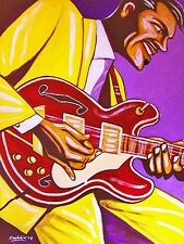 CHUCK BERRY PRINT poster johnny b goode chess recordings cd gibson es-335 guitar