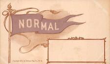 Normal Illinois Banner University School Flag Embossed Postcard (1907)