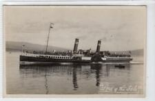 """LORD OF THE ISLES"": Clyde Paddle Steamer postcard (C31669)"