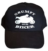 Grumpy Old Biker Cotton Bikers Baseball Cap Motorbike Accessories Gift Ideas