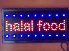 Top Quality Flashing Colour LED HALAL FOOD Shop Sign Neon Display Window Light