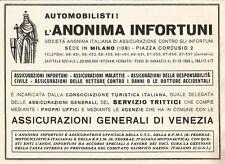 W2606 Assicurazioni Generali di Venezia - Pubblicità del 1938 - Old advertising