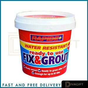 RAPIDE 500g Fix N Grout Tile Adhesive Internal Use Ideal For Showers and Wet