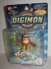 1997 Bandai Digimon Season 2 Hawkmon figure MOC Digital Monsters Wing flapping