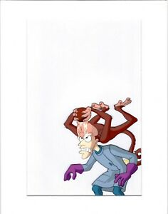 Earthworm Jim Professor Monkey production animation cel Universal 95-6 8