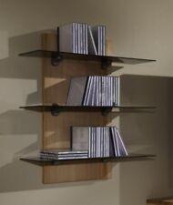 CD-Regal Kernbuche CD-Board modern Regal Glasböden Dekoregal Wohnzimmerregal