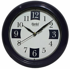 Designer Ajanta Quartz Blue & White Wall Clock/Watch For Beautiful Home/Office