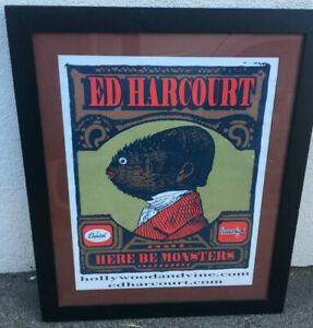 RARE Framed Poster Ed Harcourt Capitol Records Here Be Monsters Fish Heavenly
