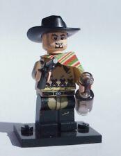 NEW CUSTOM 100% LEGO BATMAN SOLDIER CLINT EASTWOOD COWBOY PISTOLERO w DARK CHAPS