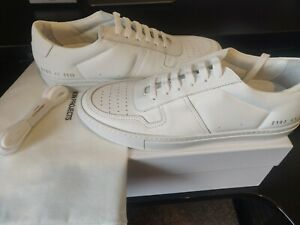 COMMON PROJECTS TRAINERS BBALL LOW-TOP SNEAKERS WHITE LEATHER UK7 FITS LIKE UK 8