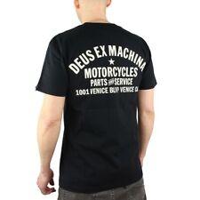 Deus EX Machina Men's Cotton Venice Address Short Sleeved T Shirt Black Grey Medium