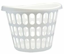 United Solutions Laundry Basket, White Plastic, 2 bu. - LN0276