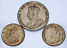 Canada Lot of 3 5C Coins (1917 - 1933) VF - XF Condition