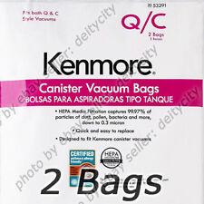 GENUINE 2 Pack Kenmore 53291 Type Q/C HEPA Vacuum Cleaner Bags Canister Style pk