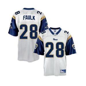 Rams #28 MARSHALL FAULK Jersey YOUTH XL NWT NEW White Reebok