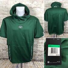 Nike New York Jets Short Sleeve Therma Hoodie 906863 Green Sz XL