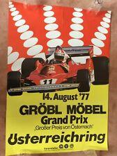 Original Poster F1 Austria Usterreichring Berger Ferrari 1977
