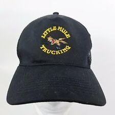 Little Mule Trucking Snapback Hat Cap Trucker Black Embroidered Mesh Donkey Ass