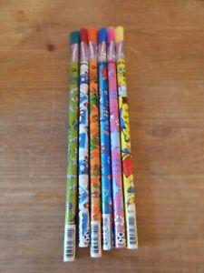 Set of 6 Dr Seuss Sharp n Sweep Eraser - Brand New