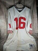 Joe montana #16 nfl throwback jersey 1989 size 56