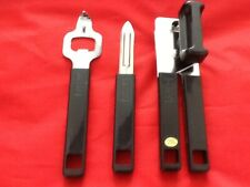 3 Pc Kitchen Set Potato Peeler, Bottle / Can Opener Black