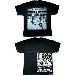 DIEGO MARADONA XXL HAND OF GOD Giants Casting Shadows TShirt 2XL NEW 2 sided Tee