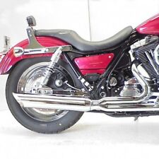 D&D Chrome 2-into-1 2:1 Fat Cat Exhaust System Wrapped Baffle Harley FXR 89-2000