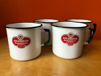 Vintage Enamelware White Coffee Tea Mugs Cups bowls chili soup Camping farmhouse