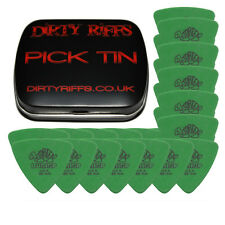 24 x Dunlop Tortex Triangle Guitar Picks - 0.88mm Green In A Pick Tin