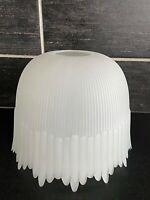 Vtg Style Dome Victorian Fringe Satin Light Globe Shade Ribbed Scalloped PLASTIC