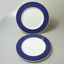 2 x Rosenthal Form 200 ABC Teller Kuchenteller blauer Rand Baumann Entwurf