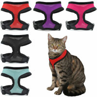 Cat Harness Adjustable Kitten Restraint Outdoor Mesh Breathable Stop Pulling Pet