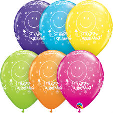 25 Smiley Happy Retirement Helium / Air Balloons Party Decorations Qualatex 11""
