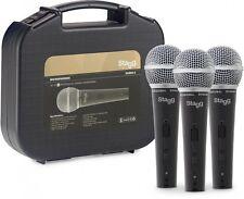 3 x dynamisches Mikrofon inkl. Mikrofonkabel und Transportkoffer Karaoke Mikro`s
