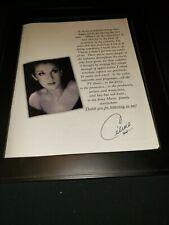 Celine Dion Rare Original Sony Records Rare Original Promo Poster Ad Framed!