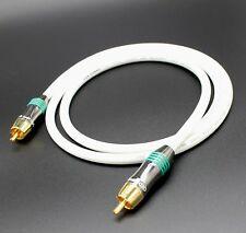 Van Damme-plaqué argent OFC RCA subwoofer Interconnect Cable 1 m QED Connecteurs