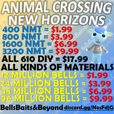 Animal Crossing:New Horizons Bells ✅ ONLINE ✅ INSTANT BELLS+NOOK MILES TICKETS🚀