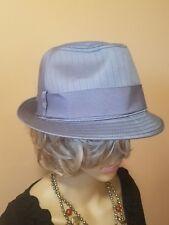 ce45bda70420d Banana republic Fedora Mens Hat Gray Stripes Size M L Nwts