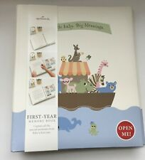Hallmark First Year Memory Baby Book - Little Baby Big Blessings Religious - Nib