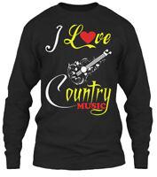 I Love Country Music - Gildan Long Sleeve Tee T-Shirt