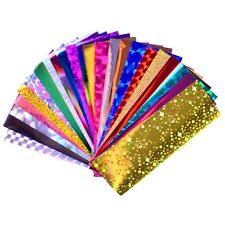 50pcs Shiny Sparkly Laser Holographic Galaxy Starry Sky Colorful Nail Transfer F