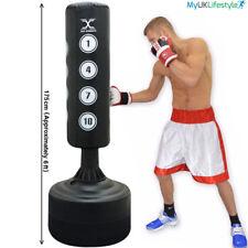 SUPER RESISTENTE 1.8m Soporte de pie Saco Boxeo Trabajo Patada MMA Entrenamiento
