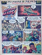 Beyond Mars by Jack Williamson - scarce full tab Sunday comic page Apr. 25, 1954
