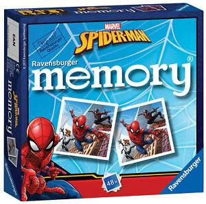 21308 Ravensburger Spider-Man Mini Memory Card Game Snap Pairs Children 3+